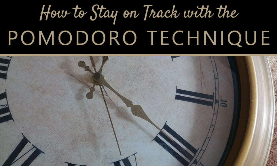 Staying on Track: Writing with the Pomodoro technique